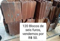 120 Blocos de 6 furos