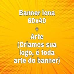 Título do anúncio: Banner lona 60x40+ Arte