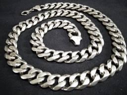 Corrente Prata 925 Maciça Grossa - Peso: 167g - Com 64cm