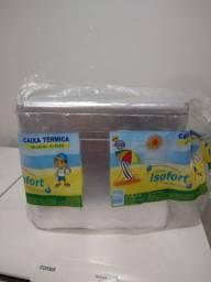 Caixa de Isopor 36L CROMADA c/ ALÇA