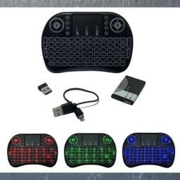 MINI TECLADO WIRELESS KEYBOARD COM TOUCHPAD USB ANDROID CONSOLE E TV H'MASTON JP-25