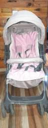 Carrinho de bebê galzerano menina.