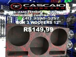"""caixa caicha box caixote gabinete falante 3 woofers 12"""" 12 sub subwoofer woofer"""