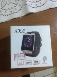 Smartwatch bluetooth câmera digital entrada p chip R$70(80 cartão)