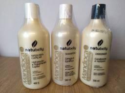 Kit Shampoo, Condicionador e Máscara Natubelly