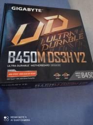 Processador AMD ryzen 5 3400g + placa mãe gigabyte b450m ds3H V2 nova