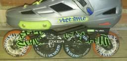 Patins Oxer Graffiti Inline Freestyle Abec-9
