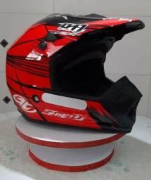 Capacete Motocross Pro Tork TH1 Shield Vermelho TAM. 60(Produto Novo)