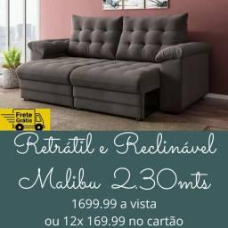 Sofá retrátil e reclinável alto padrão! Direto da fábrica! * promoção de frete *