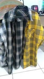 camisas usadas em estado de novas tamanho grande