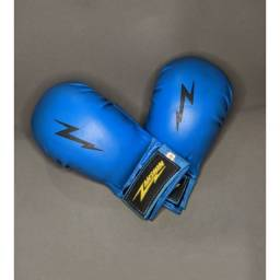 Luva Karatê Zanshin com Dedão - Azul