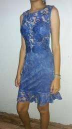 Vestido feminino, rendado com bojo