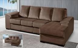 Sofá com Chaise Maior Conforto em até 10x 179,90
