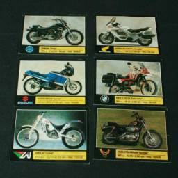 13 figurinhas do álbum moto show do ano de 1991