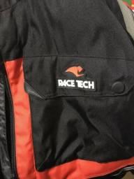Jaqueta Face Tech Touring Impermeável Preta Vermelha 399cdc725bc34