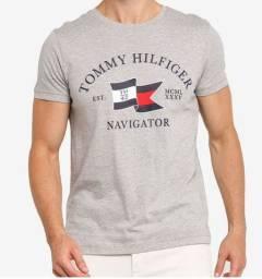 Camiseta Tommy Hilfiger Navigator Cinza - Tam. M