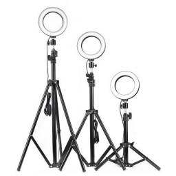Iluminador RING LIGHT 26 cm com tripé +suporte central??