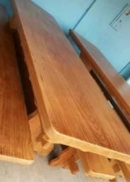 Móveis rústicos em madeira de lei é nas lojas itinga móveis