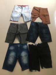 6 shorts jeans masculino tamanho 42