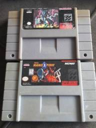 "Fitas de Super Nintendo Snes- ""Batman e Robin"" e ""NBA HANG TIME(Original)"" comprar usado  Curitiba"