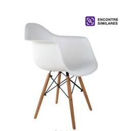 Cadeira eames com braço na cor branca