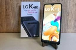 Smartphone Lg K41S Titânio 32Gb, Ram 3Gb, Tela 6,55, 4 meses de uso. Aceito cartão