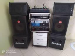 Som profissional, amplificadores, equalizador, mesa, sub , caixas acústicas,