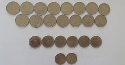 Lote 23 moedas antigas de Cruzado