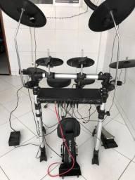 Bateria eletrônica staff drum, com modulo alesis md5