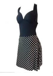 Maiô Plus com saia embutida veste 48/50