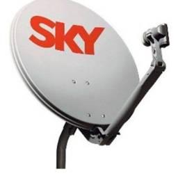 Antena sky com LNB duplo