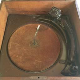 Vitrola Antiga Webster Caixa De Madeira para Restauração / Decoração