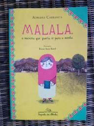 Livro Malala a menina que queria ir para a escola.