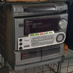 Som Aiwa NSX-550 Funciona mas com ressalvas e defeitos - leia a descrição!