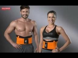 Título do anúncio: Cinta modeladora polishop fit now musculação academia troco