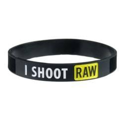 Pulseira De Silicone Para Fotografo I Shoot Raw
