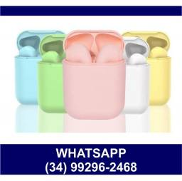 Fone Bluetooth i12 Color Android/ios - Consulte Cores