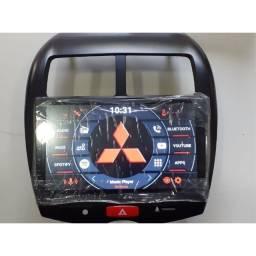 Central multimídia Asx Mitsubishi, espelhamento S300 Android