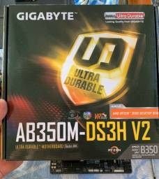 Placa mãe Gigabyte AB350M-DS3H V2