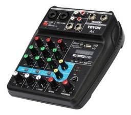 Mesa Som Interface De Áudio Usb Bluethoot Phantom Power
