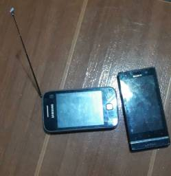 Celulares Samsung e Sony