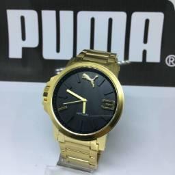 Relógio Puma Dourado linha Premium a Prova D' Água
