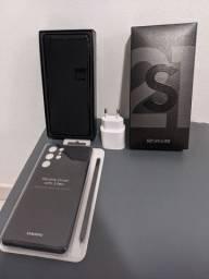 S21 ultra+ carregador ultra rapido+capa ultra silicone s pen