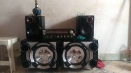 Título do anúncio: Vendo som Gradiente receiver com a caixa x metal bass