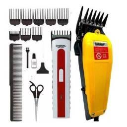 Título do anúncio: Máquina de Cortar Cabelos Barba e Pelos Kit inteiro