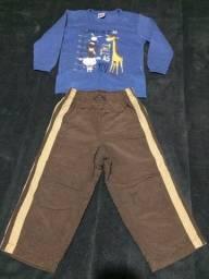 Lote calças e  blusas tam 2