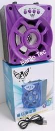 Caixa de Som Portátil Bluetooth  USB