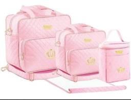 Promoção kits Bolsas martenidade quatro peças luxo apenas 130 reais