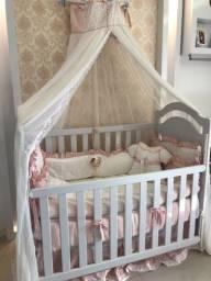 Enxoval de luxo, menina, berço e cama babá