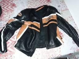 Jaqueta de couro harley davidson